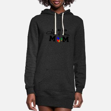 Puzzle Proud Autism mom with puzzle heart - Women's Hoodie Dress