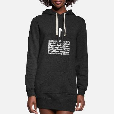 Brilliant All Good Word Is You Positive White Rev1 - Women's Hoodie Dress