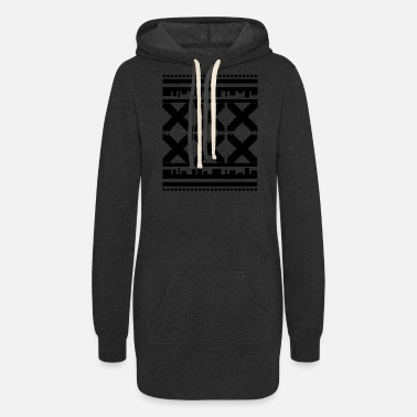 Pattern Dark Pattern - Women's Hoodie Dress