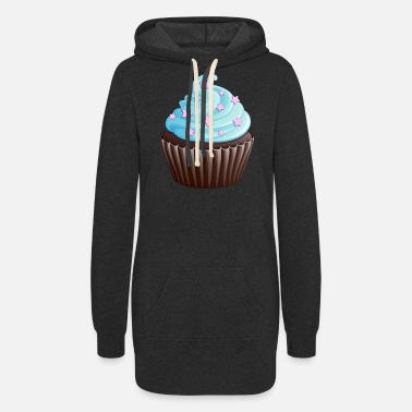 Cooking Desserts Cupcake with stars - Women's Hoodie Dress