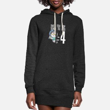 Teen The Future Of Tennis Turned 4 Cool Cat Sport - Women's Hoodie Dress