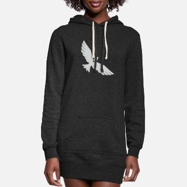 Silver Flying Silver Eagle - Women's Hoodie Dress