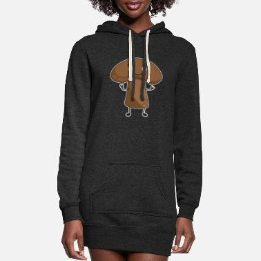 Streetwear Mushroom with face | funny | cool | eat me Design - Women's Hoodie Dress