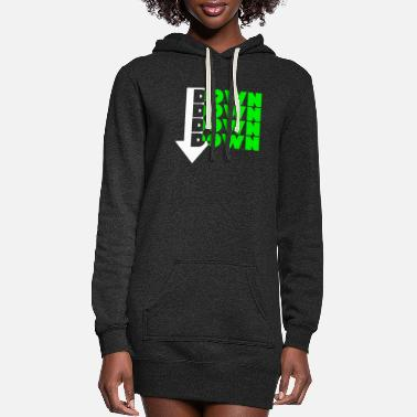Down Down Down Down Down Design - Women's Hoodie Dress