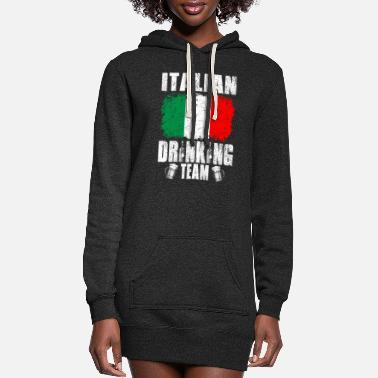 Italian Italian Drinking Team Christmas Tshirt - Women's Hoodie Dress