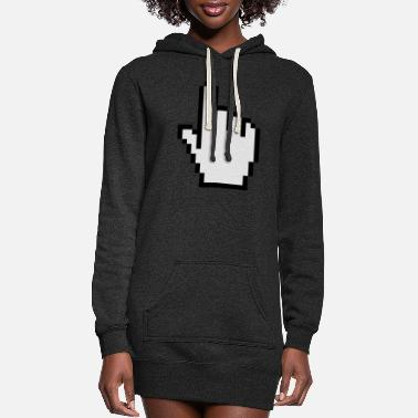 Clic Mouse Finger - Women's Hoodie Dress