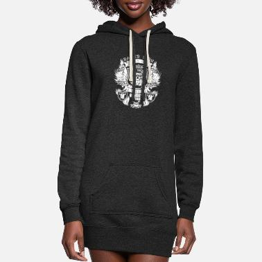 Raider Raider Born Raider Bred - Women's Hoodie Dress
