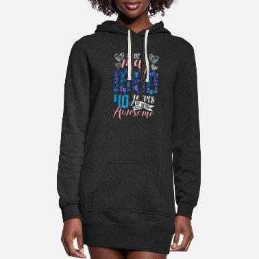 Production Year Made In May 1980 40 Years Of Being Awesome - Women's Hoodie Dress