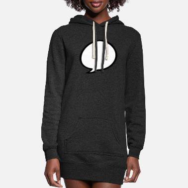 speech balloon - Women's Hoodie Dress