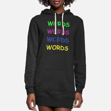 Word Words Words Words - Women's Hoodie Dress