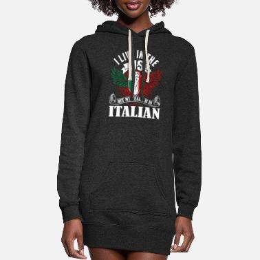 Italian My Heart Is In Italian - Women's Hoodie Dress