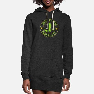 Frog Funny Let The Frogs Out Plague Pesach Passover - Women's Hoodie Dress