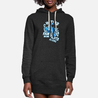 Health Prostate Cancer Awareness In This Family No One - Women's Hoodie Dress