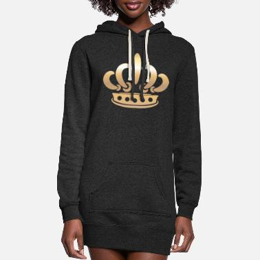 Monarch king gold Crown vector Vip illustration - Women's Hoodie Dress