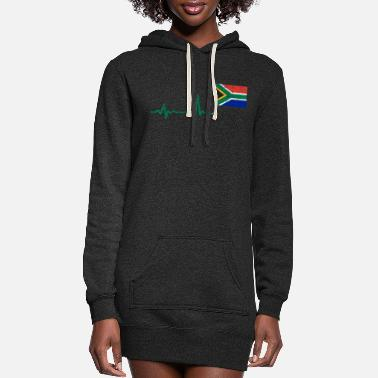 Africa Heartbeat Southafrica flag gift - Women's Hoodie Dress
