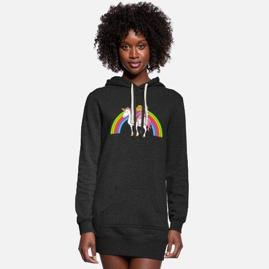 Vintage Hoodies & Sweatshirts - Unicorn - Women's Hoodie Dress heather black