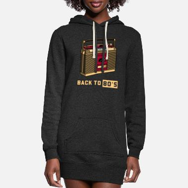 Cassette Back To The 80s 80s Music - Women's Hoodie Dress