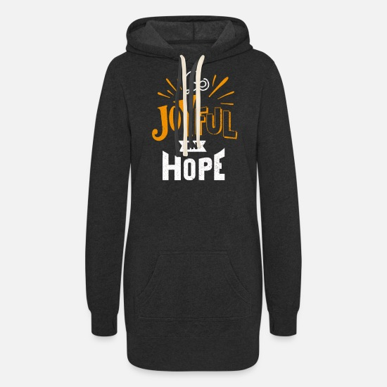 Gift Idea Hoodies & Sweatshirts - Be Joyful - Women's Hoodie Dress heather black