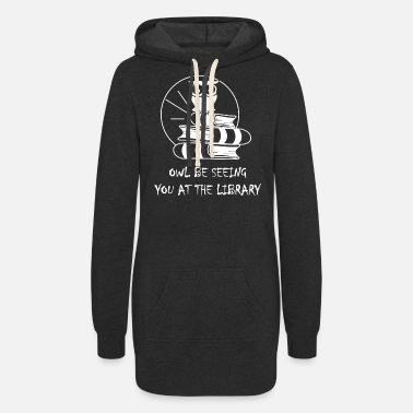 Library Library Pun - Women's Hoodie Dress