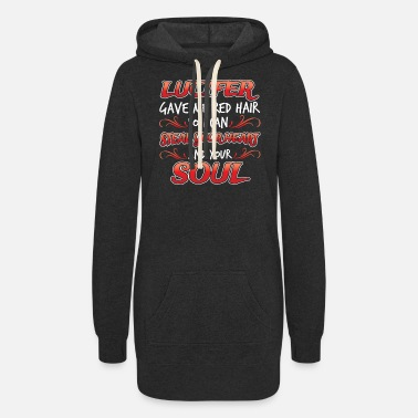 Eater Lucifer devil gave me the red hair gift fire - Women's Hoodie Dress