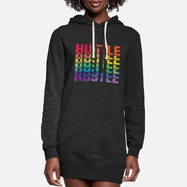Hustle Hustle Hustle Hustle - Women's Hoodie Dress