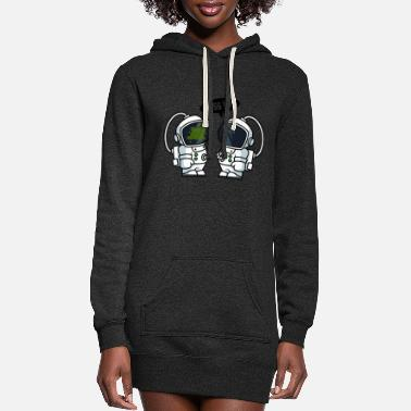 Bless You Astronauts Bless You - Women's Hoodie Dress