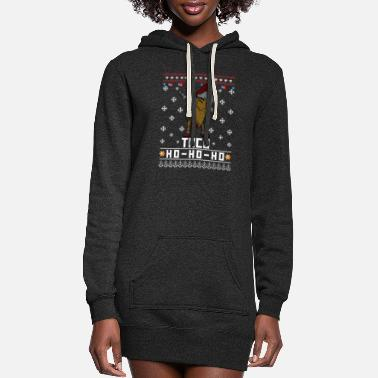 Ugly Dabbing Taco Ugly Christmas Sweater - Women's Hoodie Dress