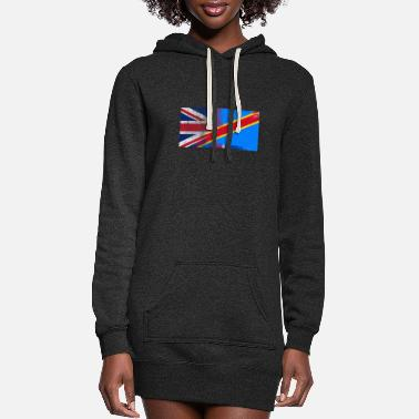 Congolese British Congolese Half Congo Half UK Flag - Women's Hoodie Dress
