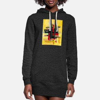 abstract painting t-shirt | abstract painting - Women's Hoodie Dress