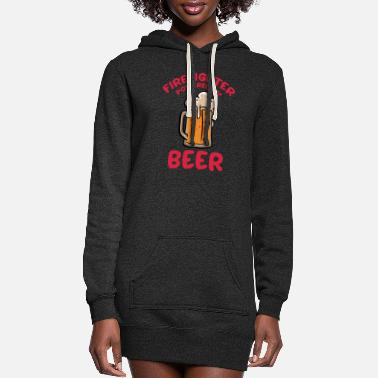 Christmas Firefighter Powered By Beer Proud Firemen Gift - Women's Hoodie Dress