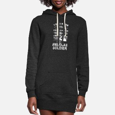 Miscellaneous American Soldier-I will never apologize being one - Women's Hoodie Dress