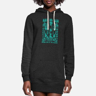 Bnsf Railroader Living life on the wrong side Railroad - Women's Hoodie Dress