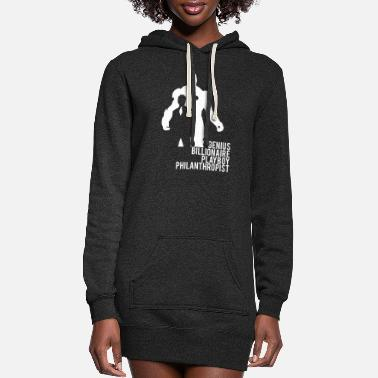 Philanthropist Iron Man Genius Billionaire Playboy Philanthropist - Women's Hoodie Dress