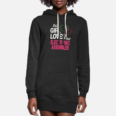 This girl loves her ELECTRONIC ASSEMBLER - Women's Hoodie Dress