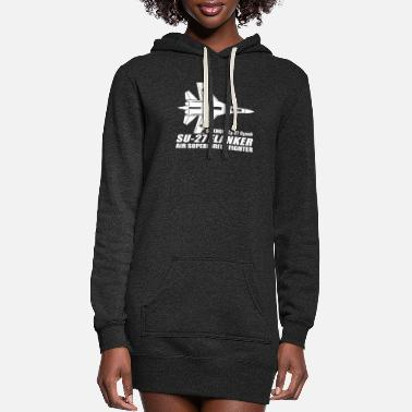 SU 27 Flanker - Women's Hoodie Dress