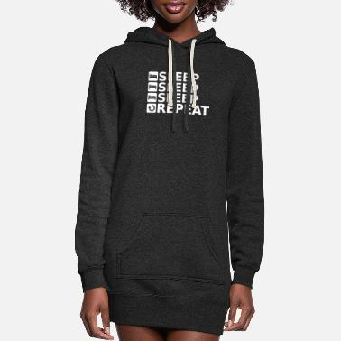 Sleeping SLEEP SLEEP SLEEP REPEAT Gift - Women's Hoodie Dress