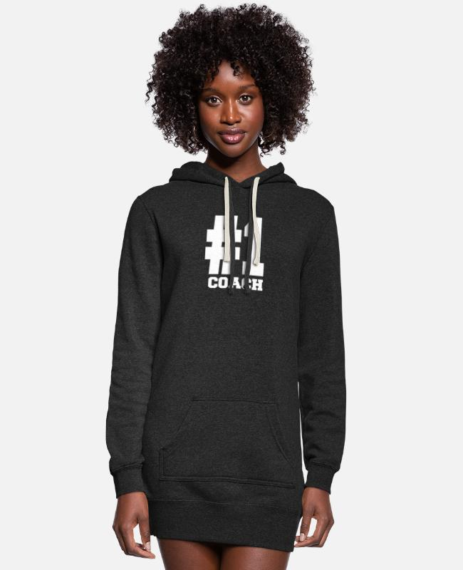 Number Hoodies & Sweatshirts - Number 1 Coach Shirts | Stylish For Coachs - Women's Hoodie Dress heather black