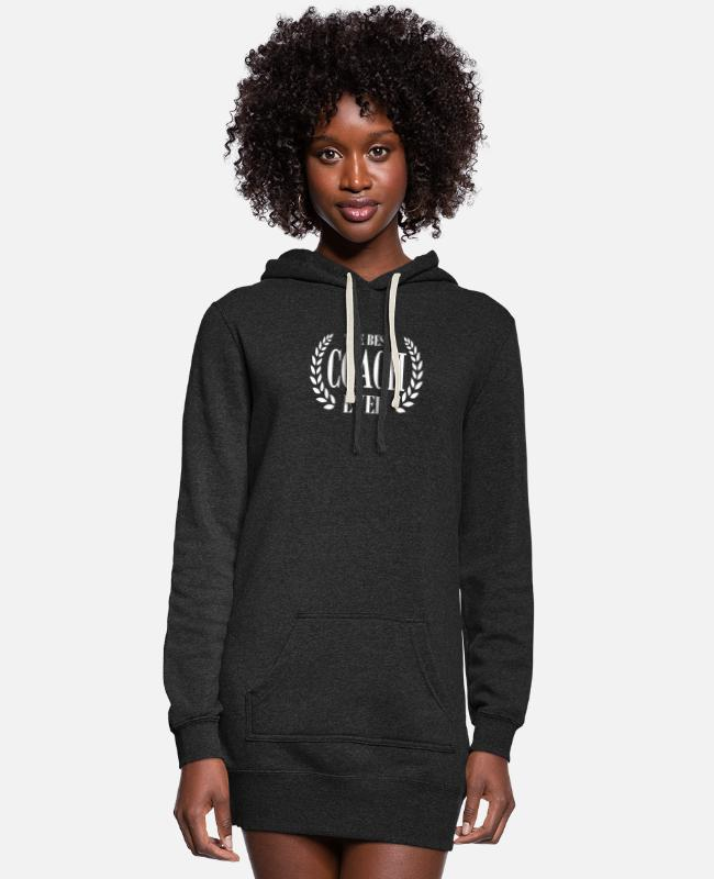 Everyday Life Hoodies & Sweatshirts - AWESOME T SHIRT FOR THE BEST COACH EVER - Women's Hoodie Dress heather black