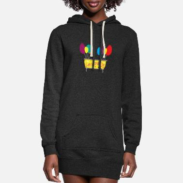 T-Shirt Party Balloon - Women's Hoodie Dress