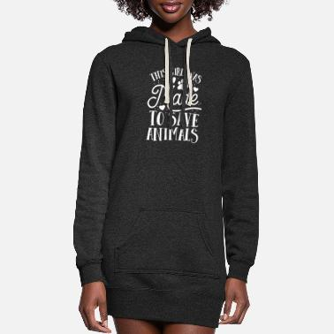 Save This Girl Was Made To Save Animals Future Vet - Women's Hoodie Dress
