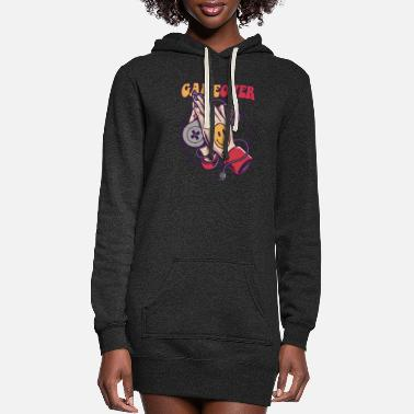 Game Over Smiley Game Over - Women's Hoodie Dress