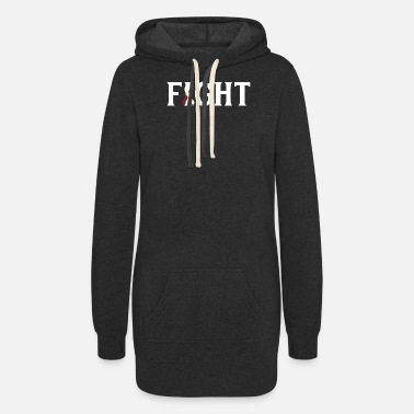 Neck Fight Head and Neck Cancer - Women's Hoodie Dress