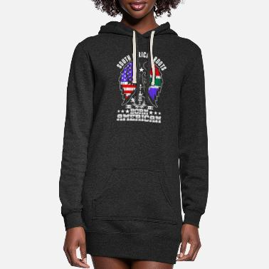 South South African Roots Born American - Women's Hoodie Dress