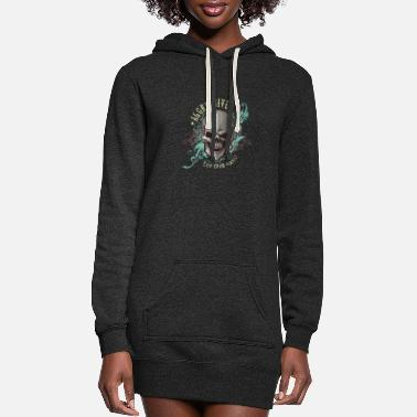 Aggressive aggressive skull - Women's Hoodie Dress