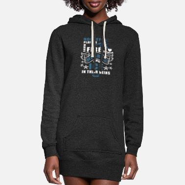 Hockey Hockey Players Have Fire In Their Hearts T Shirt - Women's Hoodie Dress
