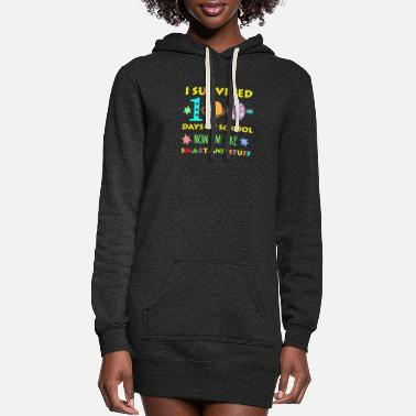 100 Days Of School Happy 100 Days Of School - Women's Hoodie Dress