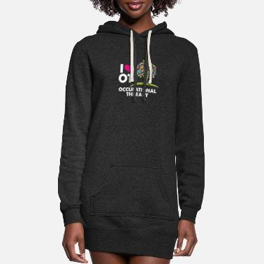 Therapy I HEART LOVE OT OCCUPATIONAL THERAPY T SHIRT - Women's Hoodie Dress