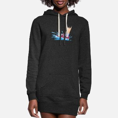 Wet Wet Shoes - Women's Hoodie Dress