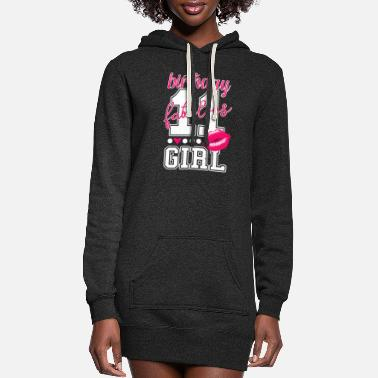 Girls 11th birthday girl pink kiss college Style number - Women's Hoodie Dress