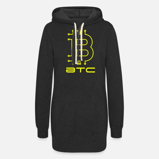 Bitcoin Hoodies & Sweatshirts - Bitcoin Crypto Blockchain Money Moon Bestseller - Women's Hoodie Dress heather black